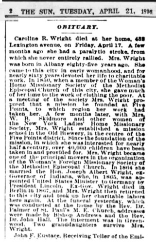1896_04_21 The Sun Caroline Wright Obituary 02.jpg